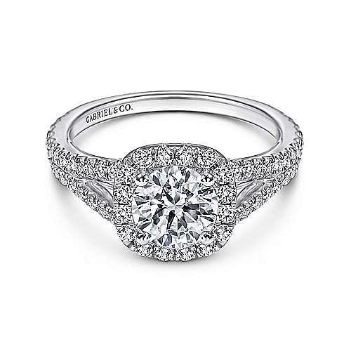 Gabriel - Plat. Diamond Engagement Ring