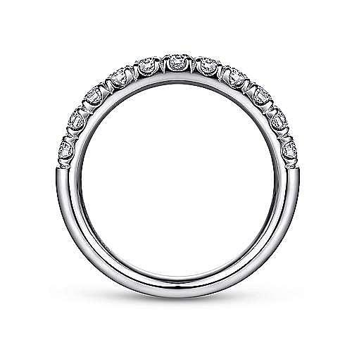 Platinum 11 Stone French Pavé Diamond Wedding Band