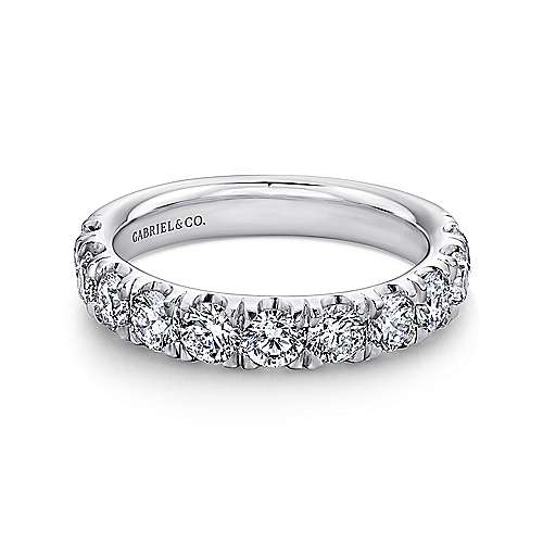 Gabriel - Platinum 11 Stone French Pavé Set Band