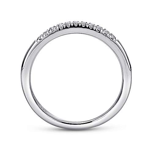 Platinum 11 Stone French Pavé Set Diamond Wedding Band