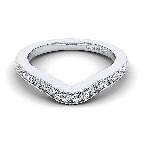 Gabriel - Platinum Contemporary Curved Wedding Band