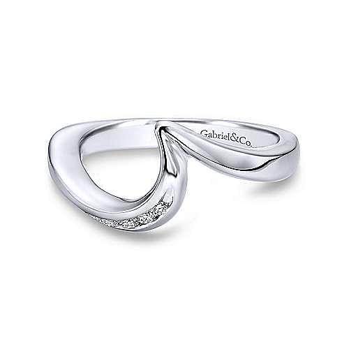 Gabriel - Platinum Contemporary Curved Wedding Band