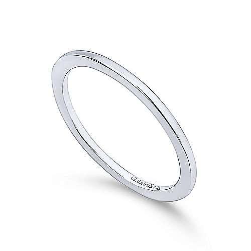 Platinum Contemporary Straight Wedding Band angle 3