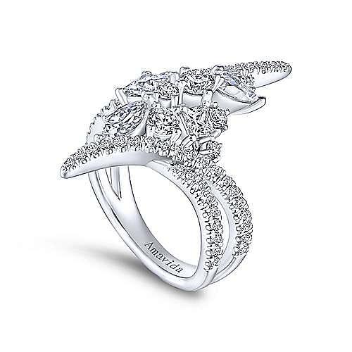 Platinum Diamond Cluster Statement Ring