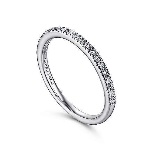 Platinum Fishtail Pavé Diamond Wedding Band