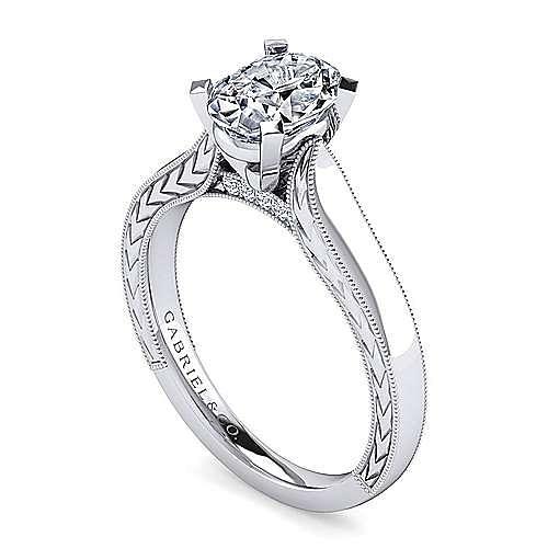 Platinum Oval Diamond Engagement Ring