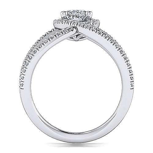 Platinum Oval Halo Diamond Engagement Ring
