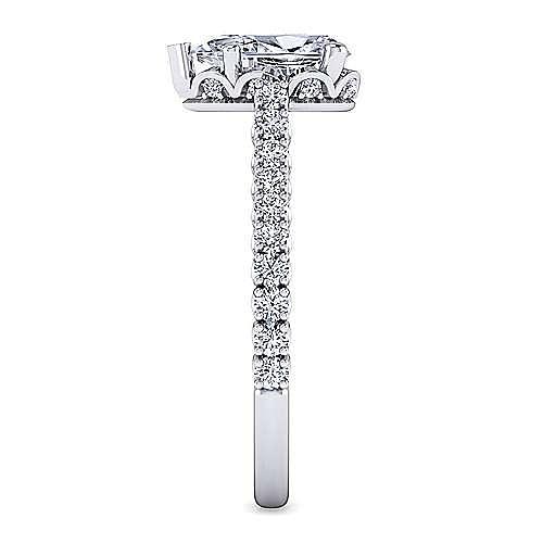 Platinum Pear Shape Diamond Engagement Ring