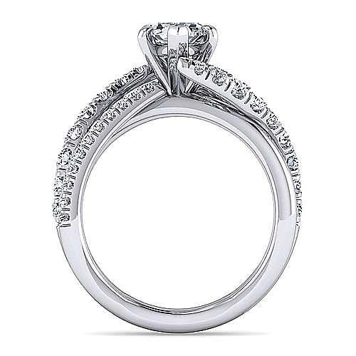Platinum Pear Shape Free Form Diamond Engagement Ring