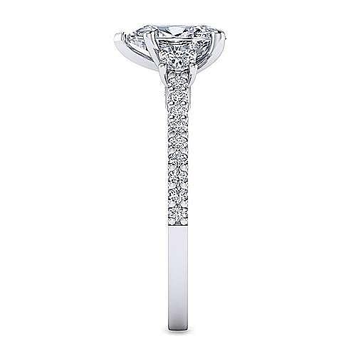 Platinum Pear Shape Three Stone Diamond Engagement Ring