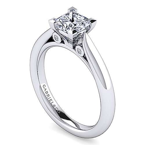Platinum Princess Cut Diamond Engagement Ring