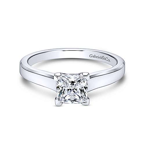 Gabriel - Platinum Princess Cut Solitaire Engagement Ring