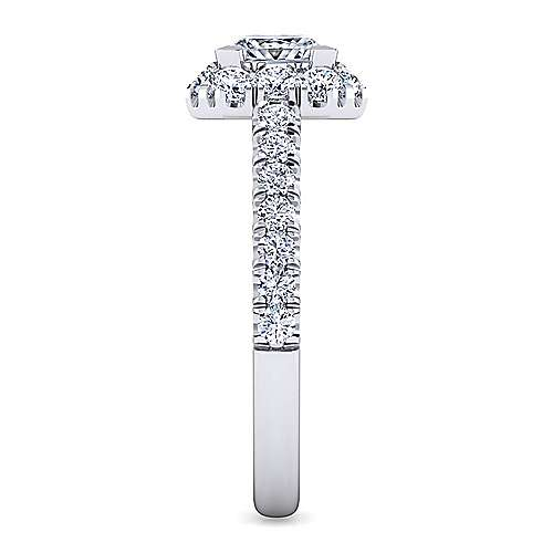 Platinum Princess Halo Diamond Engagement Ring