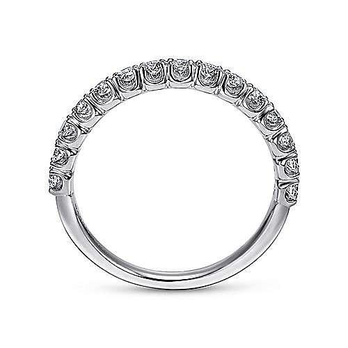 Platinum Prong Set Diamond Wedding Band
