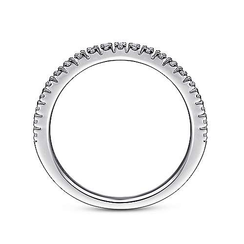 Platinum Prong Set Diamond Wedding Band