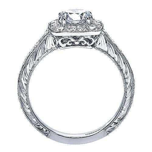 Platinum Round Halo Engagement Ring angle 2