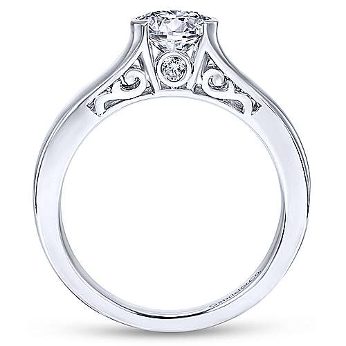 Platinum Round Solitaire Engagement Ring angle 2