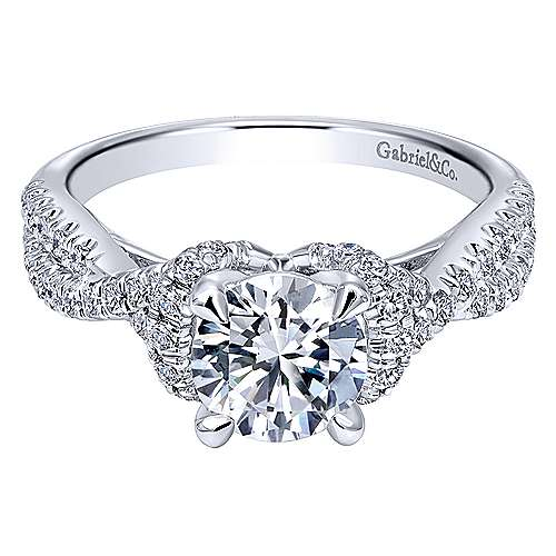 Gabriel - Platinum Round Twisted Engagement Ring