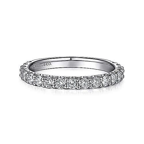 Platinum Shared Prong Diamond Wedding Band