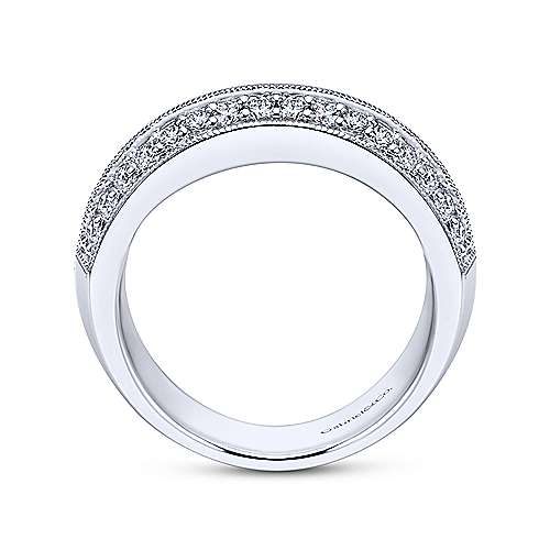 Platinum Victorian Fancy Anniversary Band angle 2