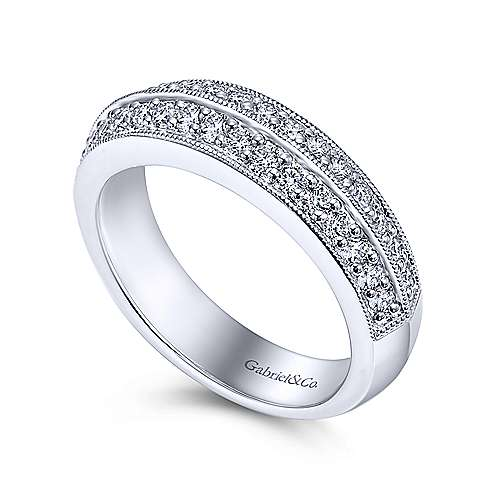 Platinum Victorian Fancy Anniversary Band angle 3