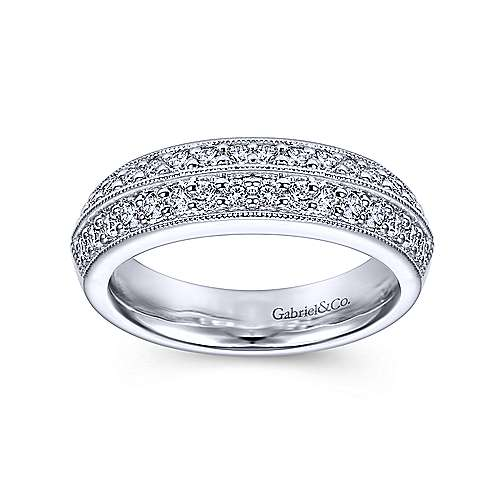 Platinum Victorian Fancy Anniversary Band angle 4