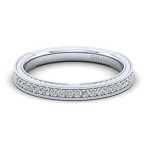 Gabriel - Platinum Victorian Straight Wedding Band