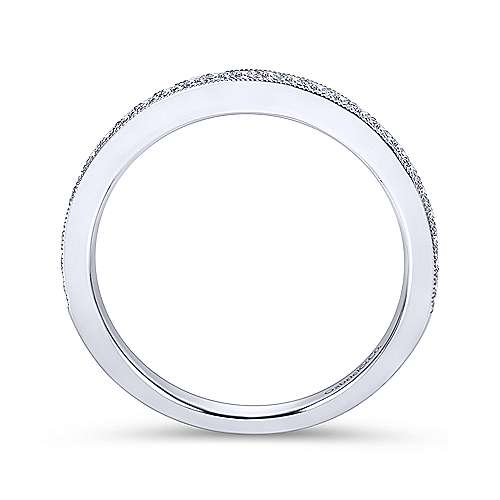 Platinum Victorian Straight Wedding Band angle 2