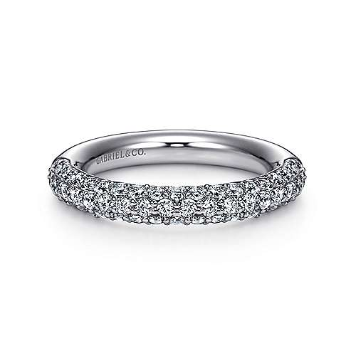 Gabriel - Prong  Classic Diamond Ring in 14K White Gold