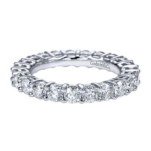 Prong  Eternity Diamond Ring in Platinum
