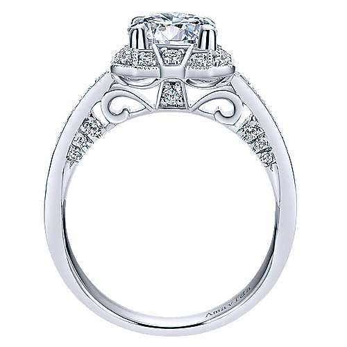 Prosper 18k White Gold Round Halo Engagement Ring angle 2