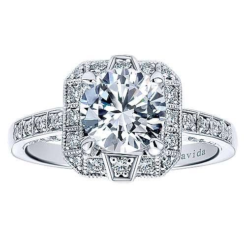 Prosper 18k White Gold Round Halo Engagement Ring angle 5