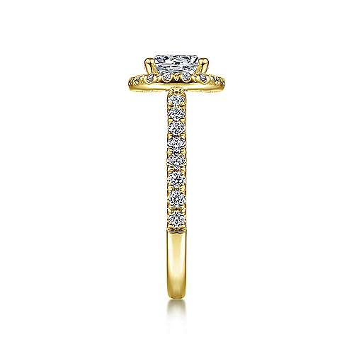Rachel 14k Yellow Gold Round Halo Engagement Ring angle 5