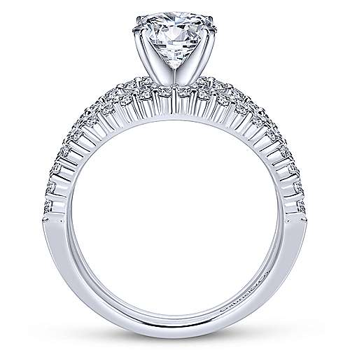 Ravenna 14k White Gold Round Split Shank Engagement Ring angle 2
