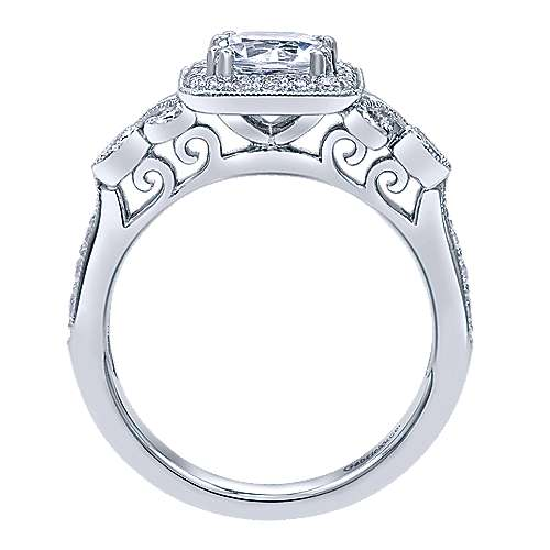 Reade 14k White Gold Princess Cut Halo Engagement Ring angle 2