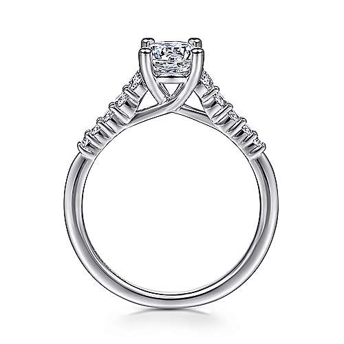 Reed 14k White Gold Round Straight Engagement Ring angle 2
