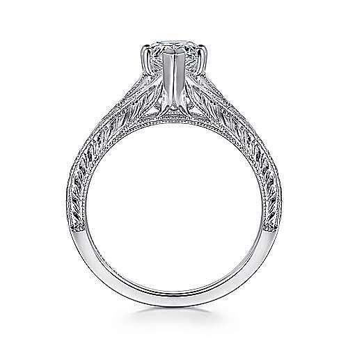 Remy 14k White Gold Pear Shape Split Shank Engagement Ring angle 2