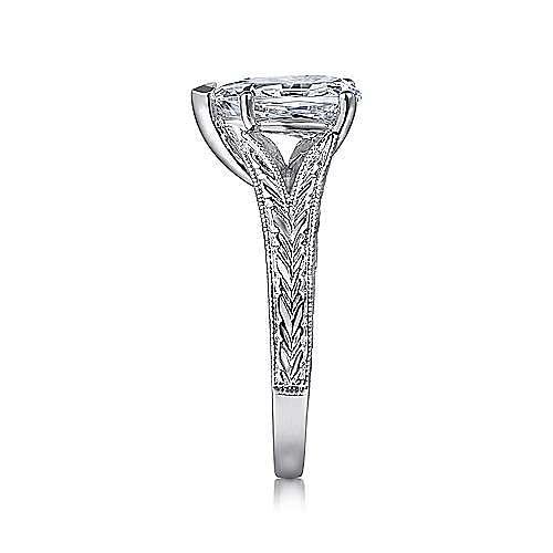 Remy 14k White Gold Pear Shape Split Shank Engagement Ring angle 5