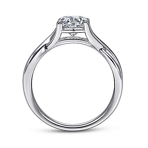 Robin 14k White Gold Round Twisted Engagement Ring angle 2