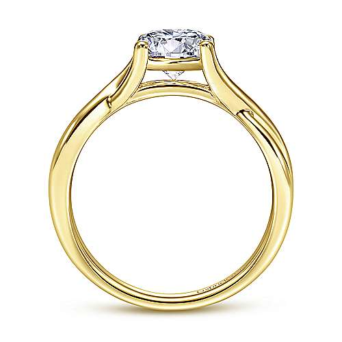 Robin 14k Yellow Gold Round Twisted Engagement Ring angle 2