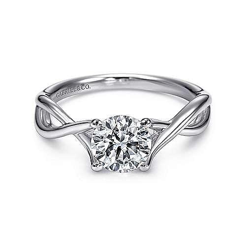 Gabriel - Robin Platinum Round Twisted Engagement Ring