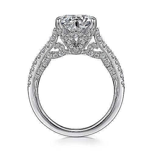 Rocio 18k White Gold Round Straight Engagement Ring angle 2