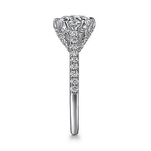 Rocio 18k White Gold Round Straight Engagement Ring angle 5