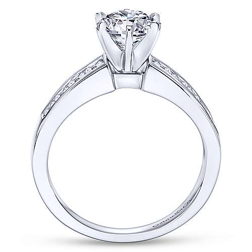 Rooney 14k White Gold Round Straight Engagement Ring angle 2