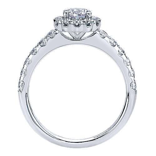 Rosalyn 14k White Gold Round Halo Engagement Ring angle 2