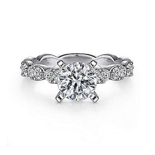 Gabriel - Rowan Platinum Round Straight Engagement Ring