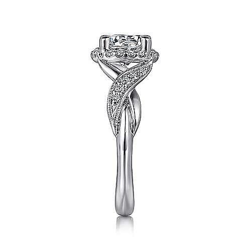 Shae 14k White Gold Round Halo Engagement Ring angle 5