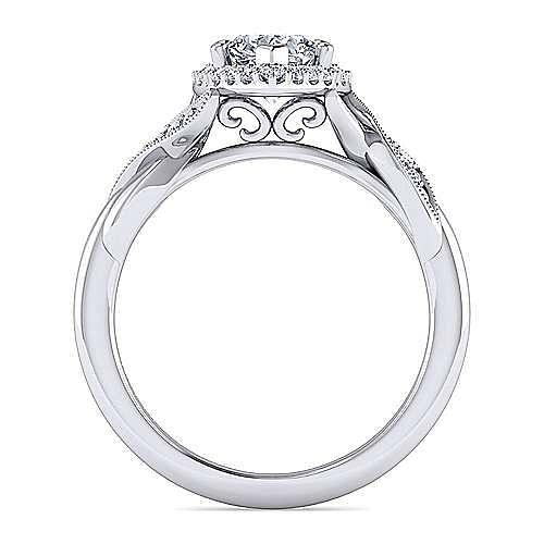 Shae Platinum Pear Shape Halo Engagement Ring angle 2