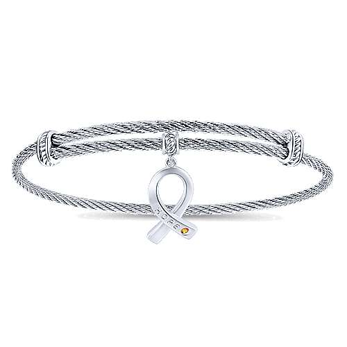 Gabriel - Silver/ Stainless Steel Fashion Bangle