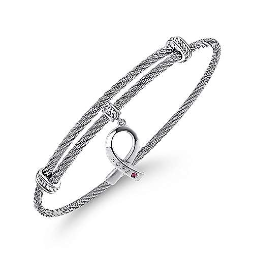 Silver/ Stainless Steel Fashion Bangle